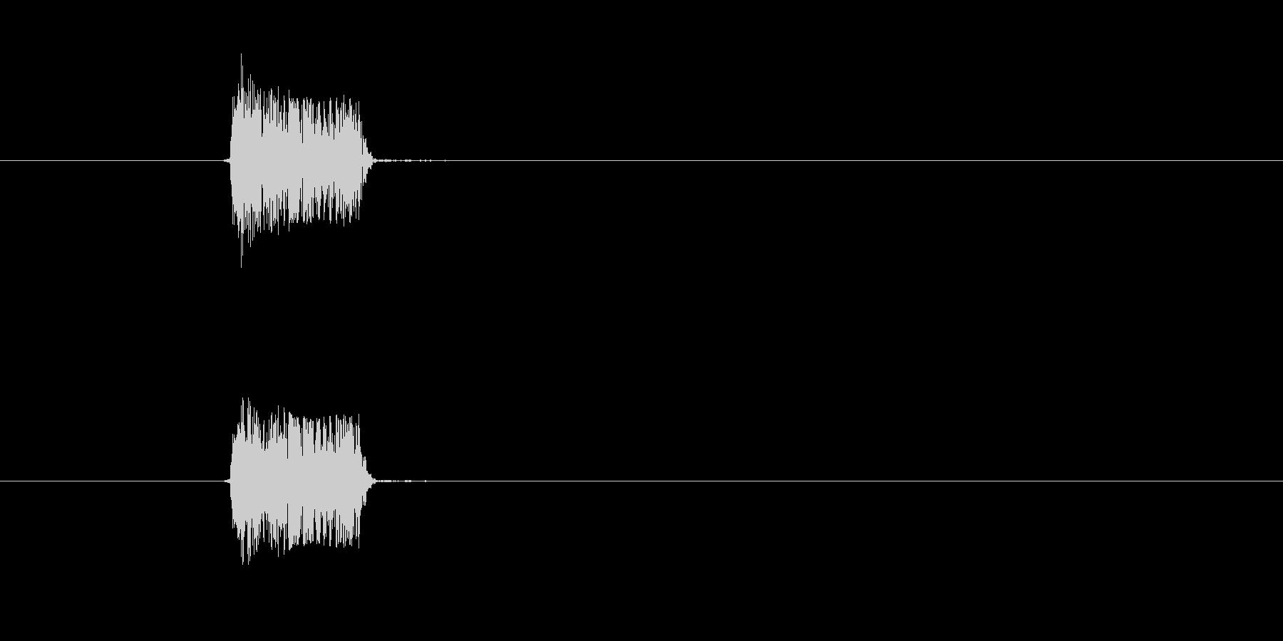 短いボタン音です。選択ボタンなど、中立…の未再生の波形