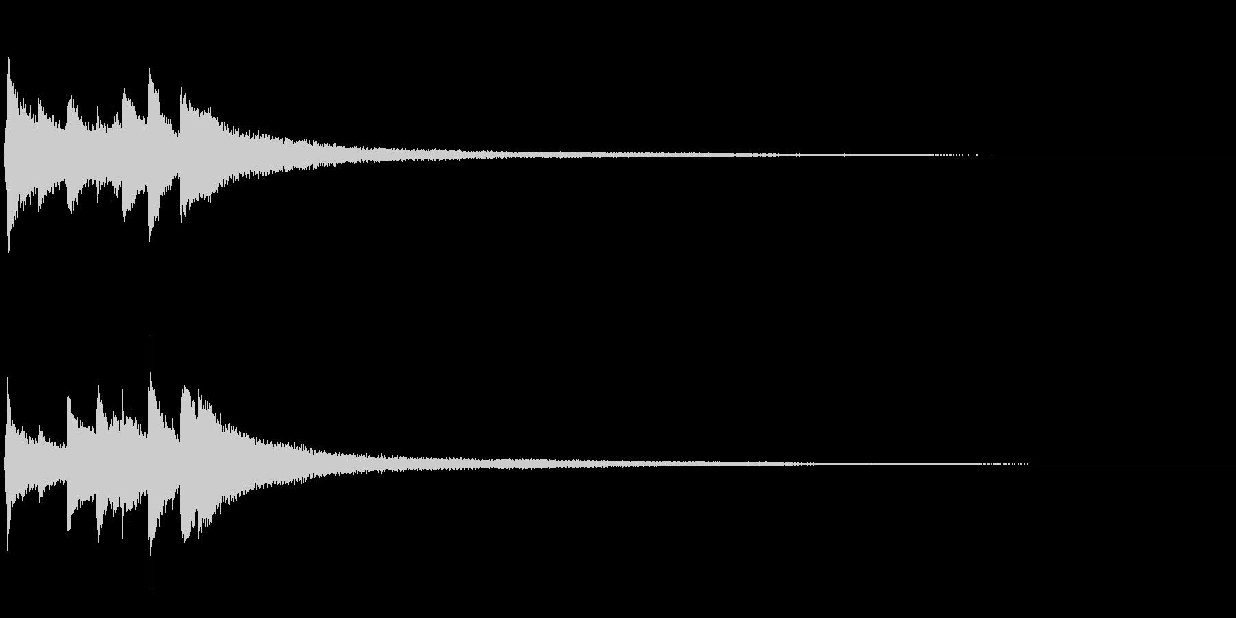 ピアノソロサウンドロゴ 優雅 大人 08の未再生の波形