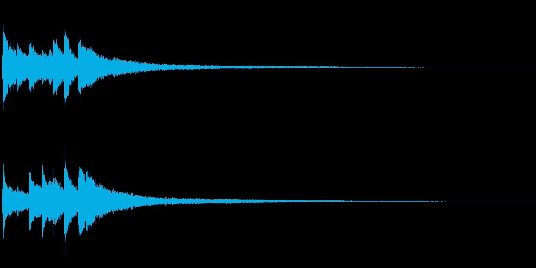 ピアノソロサウンドロゴ 優雅 大人 08の再生済みの波形