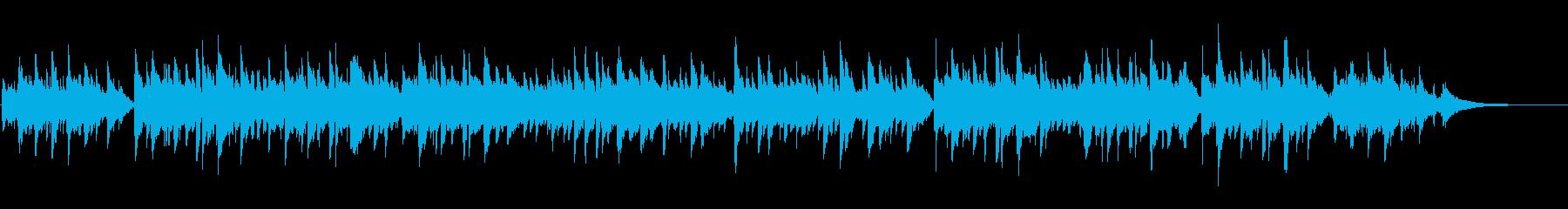 生演奏ガットギターによる小ワルツの再生済みの波形