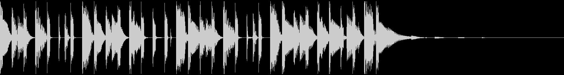 ファンキーなシンセベースによるジングルの未再生の波形