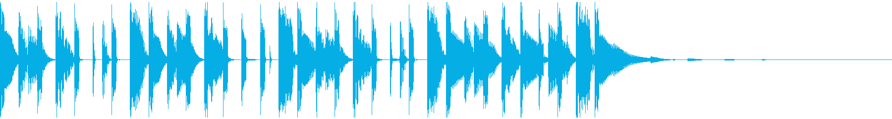 ファンキーなシンセベースによるジングルの再生済みの波形