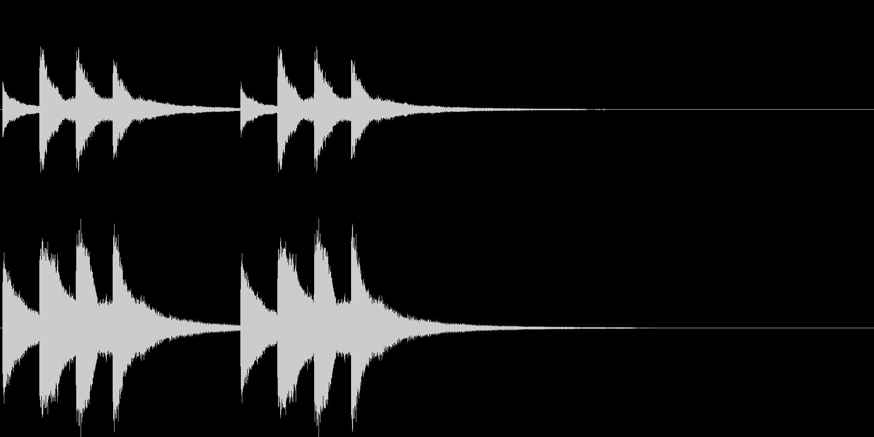 オーソドックスなチャイム音。学校など。の未再生の波形