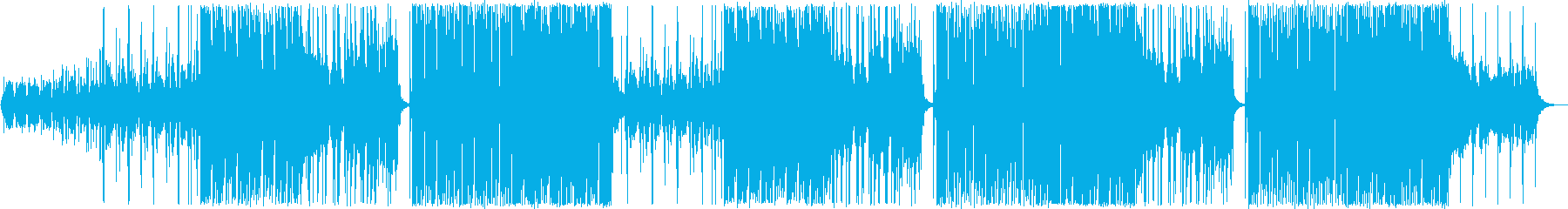 アップテンポのテクノポップの再生済みの波形