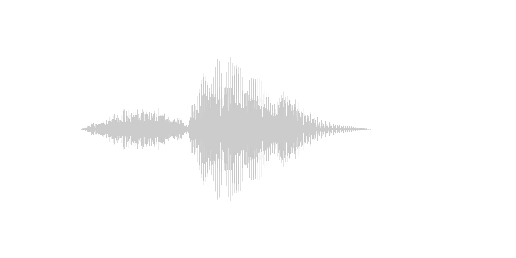 3(さん)の未再生の波形