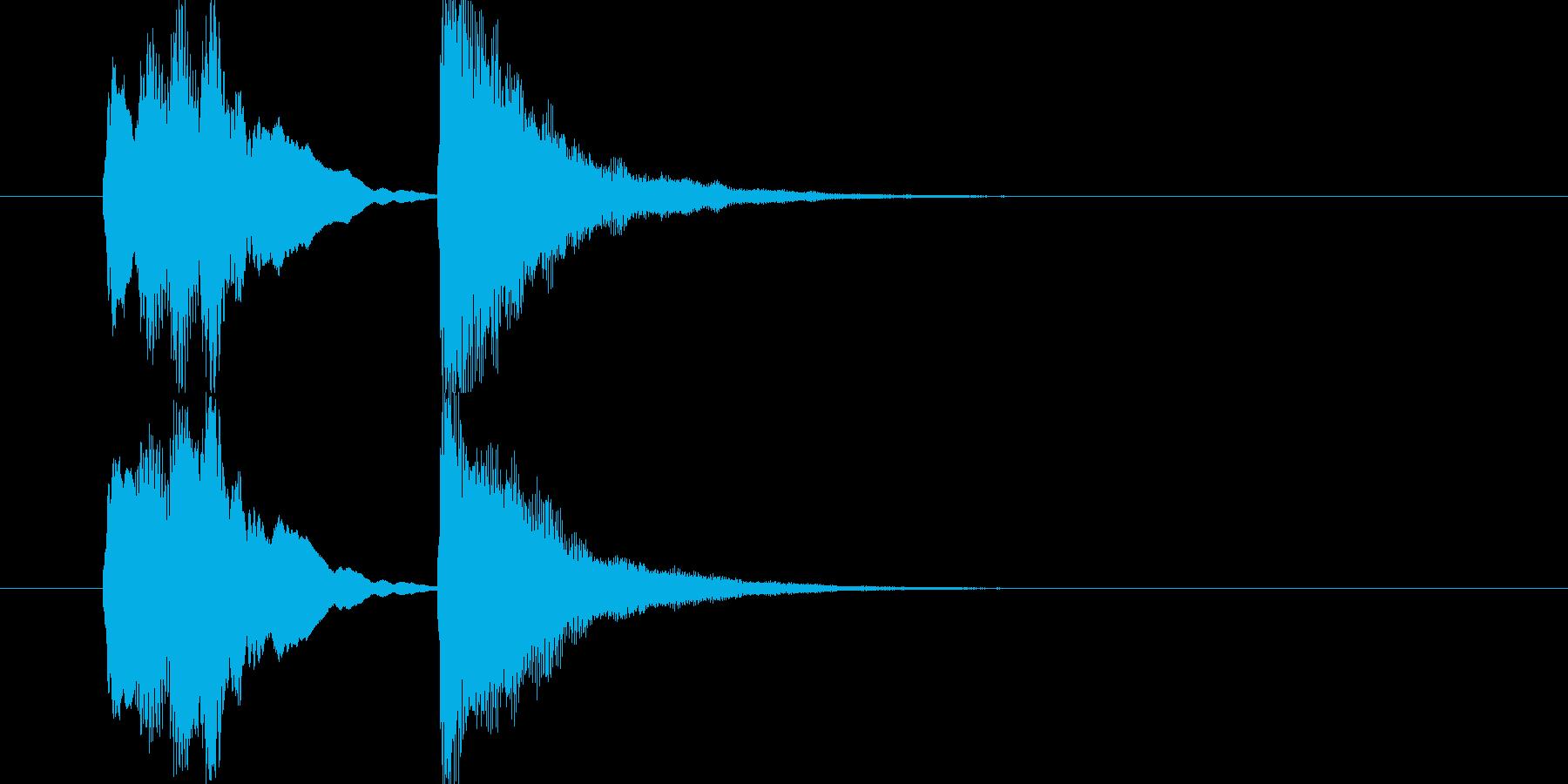 完結時・レベルアップなどに最適な管楽器音の再生済みの波形
