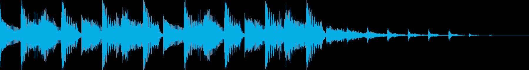 かっこいいEDMジングルの再生済みの波形