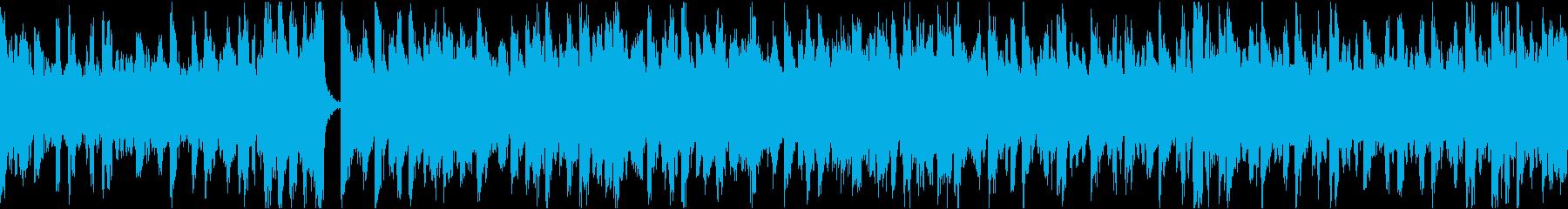 13秒でサビ、電子音ダーク/静かめループの再生済みの波形