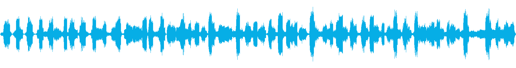 カエルの鳴き声をクローズアップの再生済みの波形