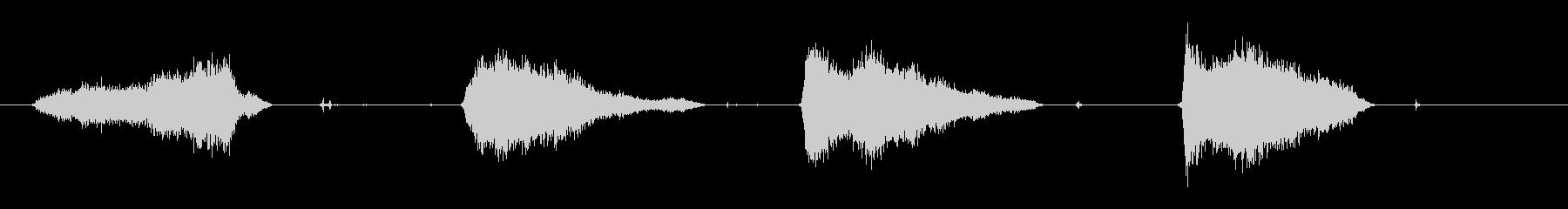 定規と鉛筆で線を引くSEの未再生の波形