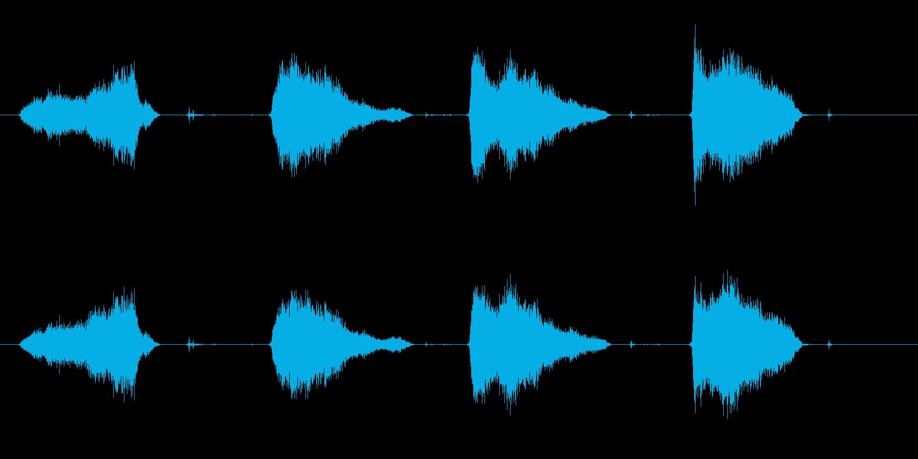 定規と鉛筆で線を引くSEの再生済みの波形