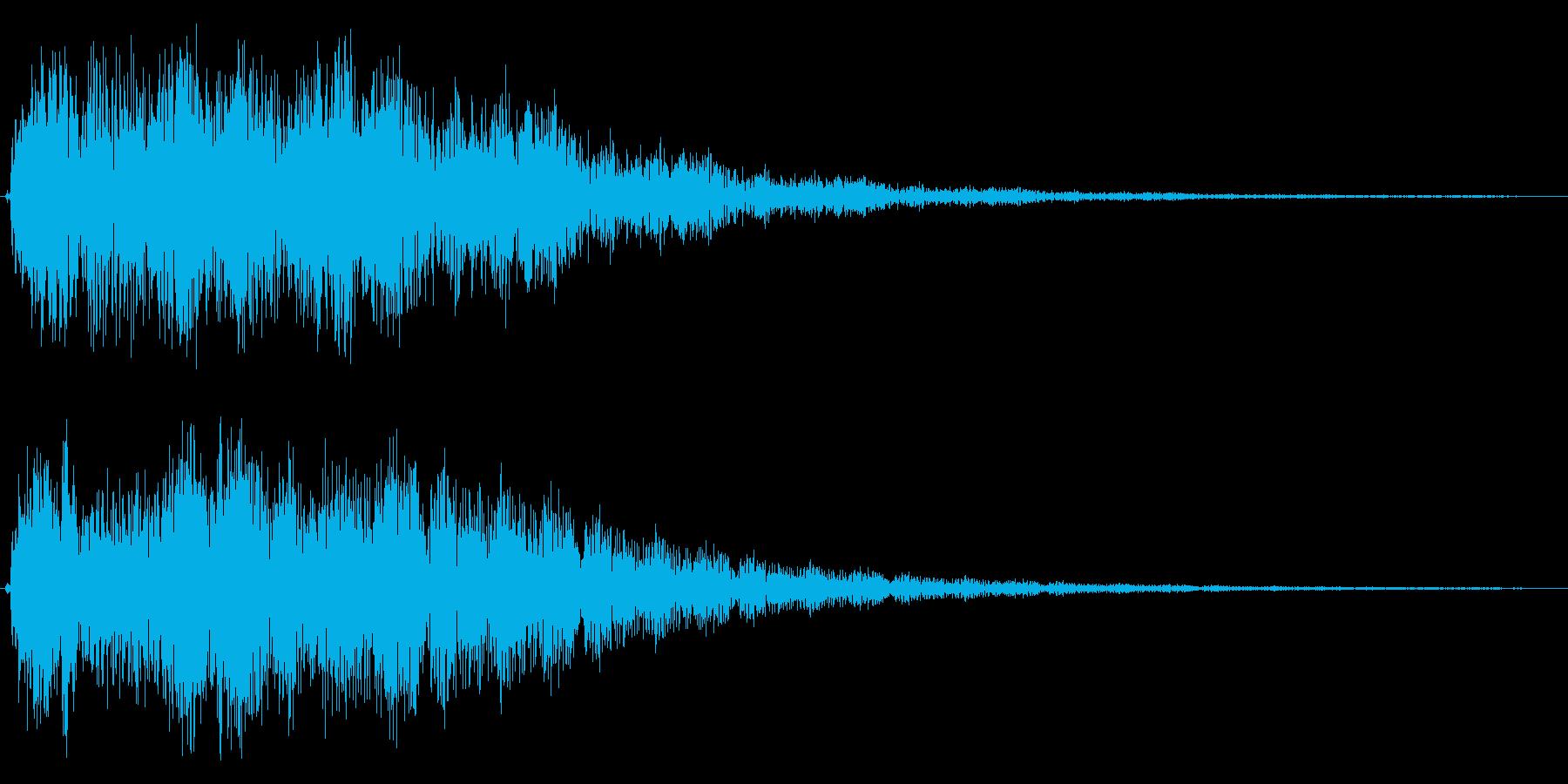 ブゥワァーンというタイトル音の再生済みの波形