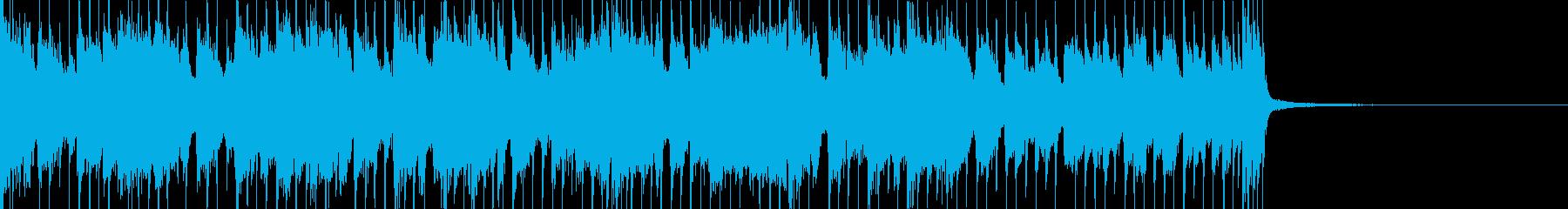 各パートごと掛け合いのあるバンドサウンドの再生済みの波形