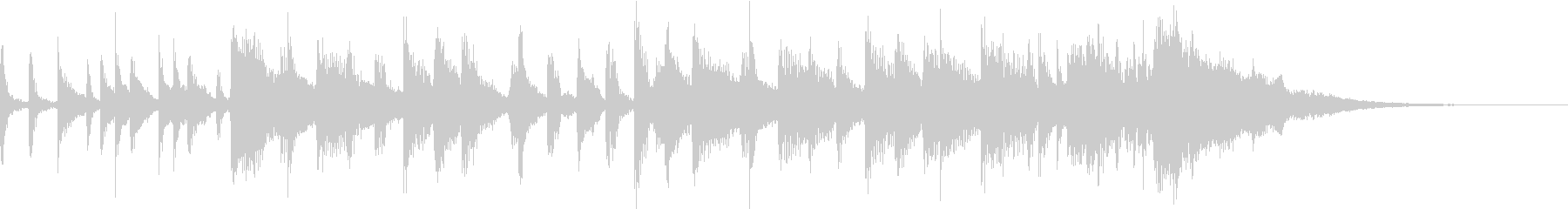 ピアノ ポップロックジングルの未再生の波形