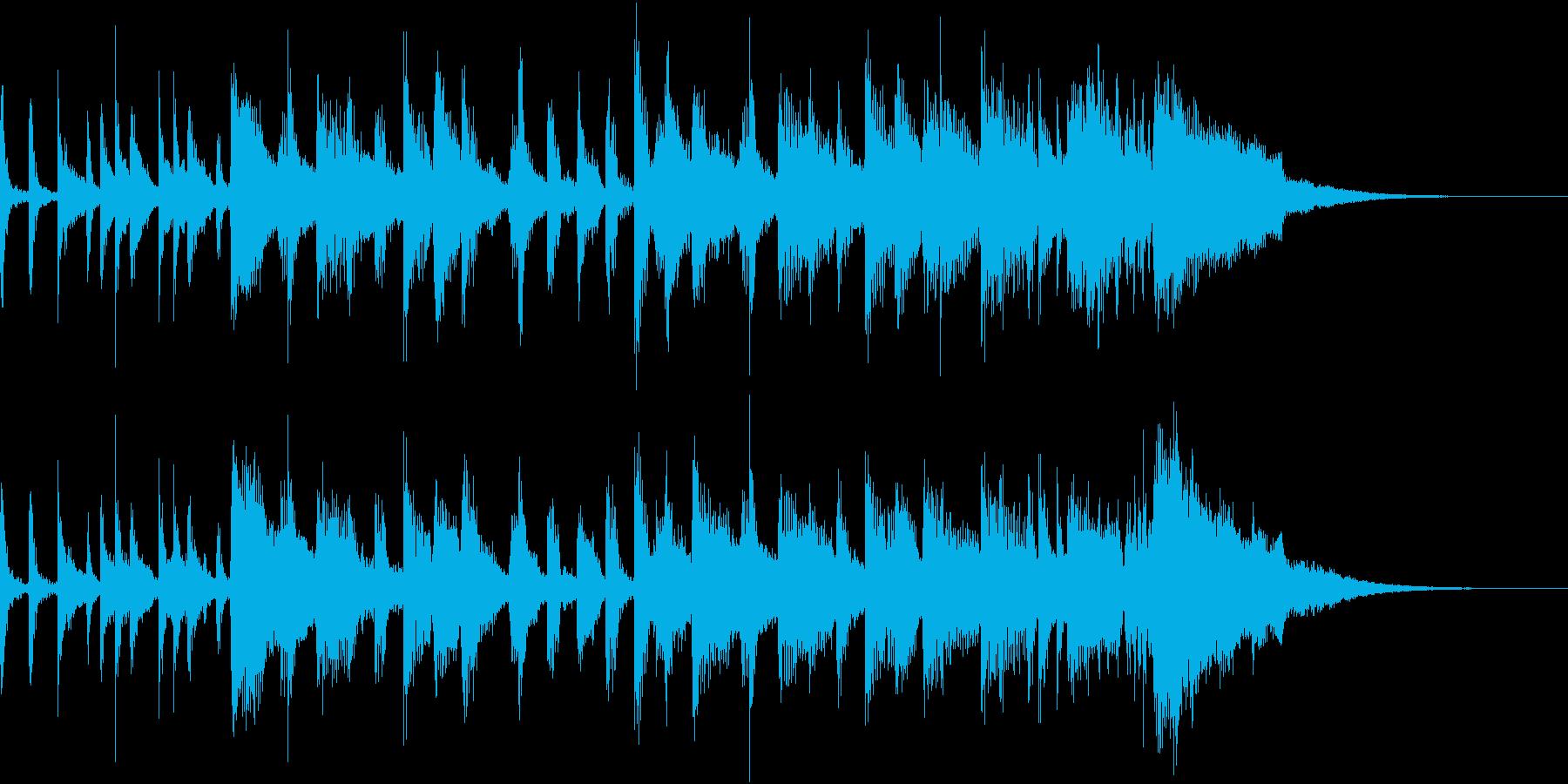 ピアノ ポップロックジングルの再生済みの波形