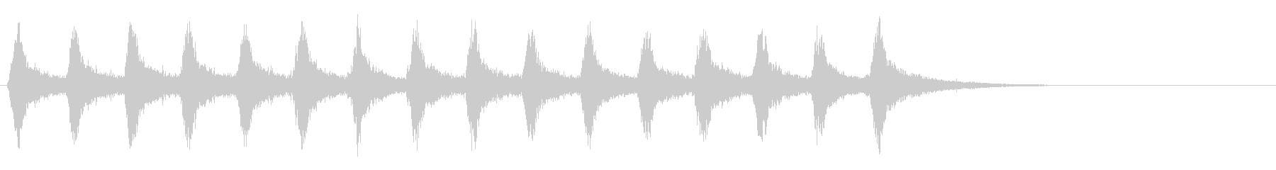 ホラーでよく聞く金切音のストリングスの未再生の波形