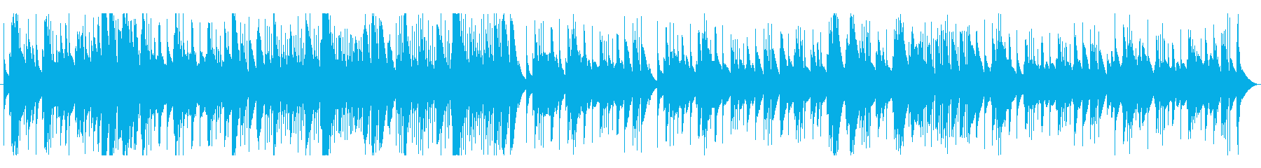 木琴(マリンバ)のとぼけた感じの曲(速)の再生済みの波形
