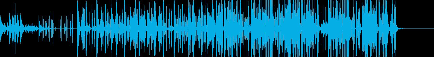 オリエンタルでポップなピアノが響くテクノの再生済みの波形