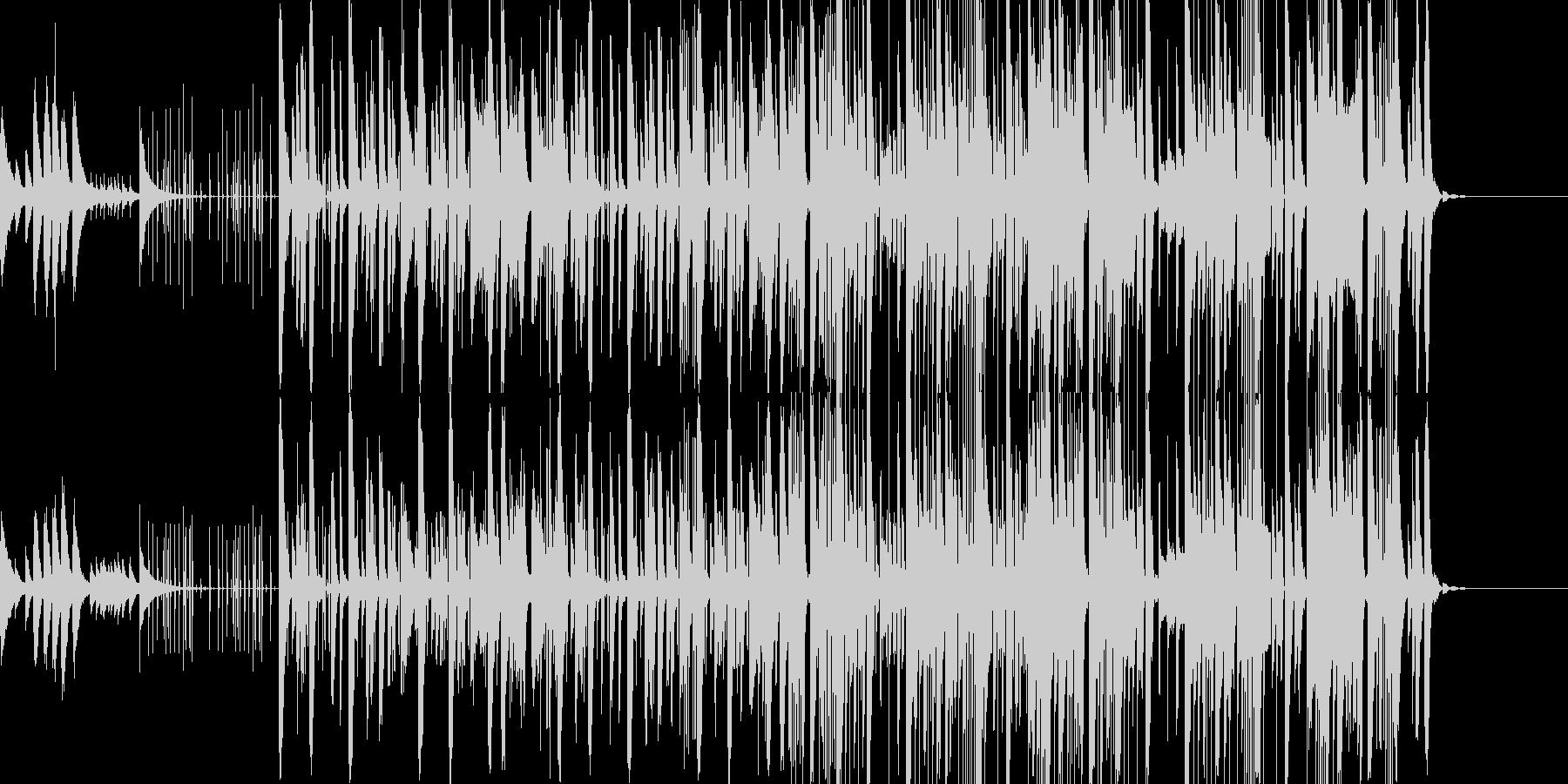 オリエンタルでポップなピアノが響くテクノの未再生の波形