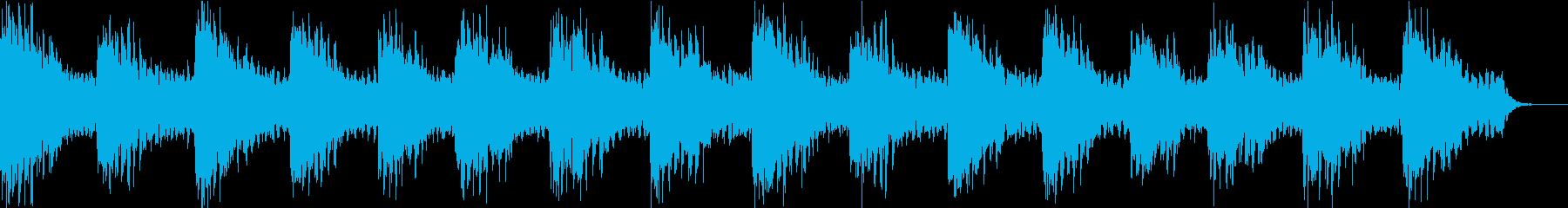 ヒーリング系のアンビエントの再生済みの波形