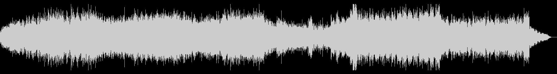 シネマティックなテクノミュージックの未再生の波形