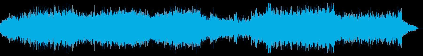 シネマティックなテクノミュージックの再生済みの波形