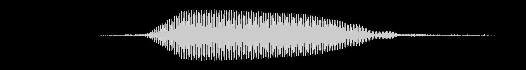 鳴き声 男性のティーンうーん混乱03の未再生の波形