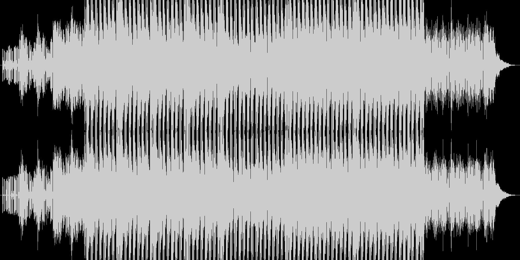 力強く駆け抜けるデジタルポップの未再生の波形