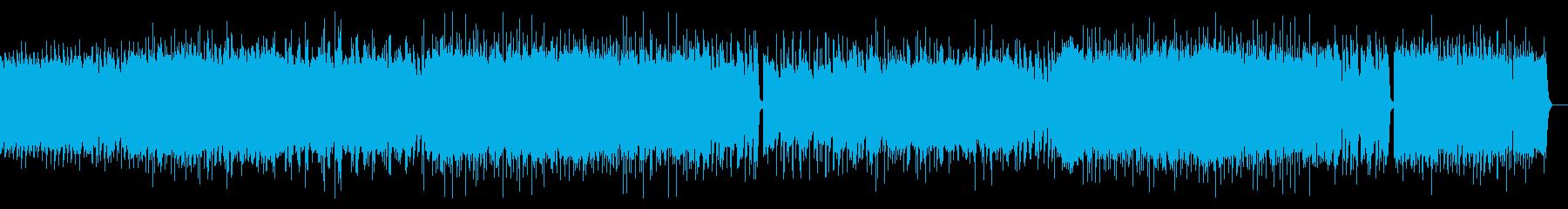 激しいギターによるポップパンクの再生済みの波形