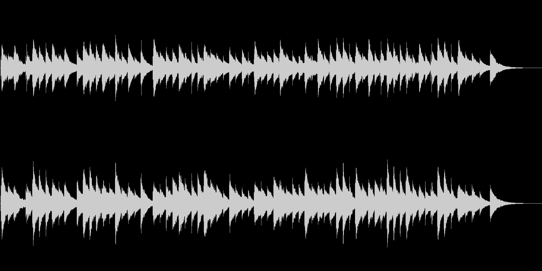 物語の始まりを予感させるオルゴール音楽の未再生の波形