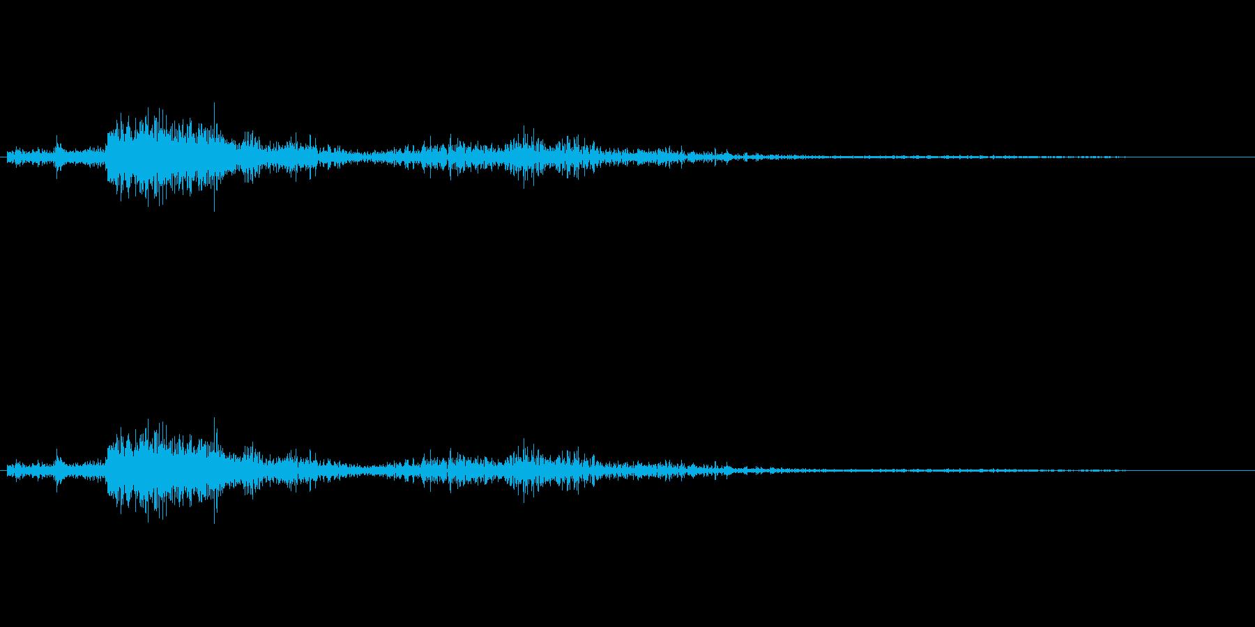 雷の再生済みの波形