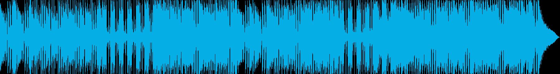エネルギッシュなロックミュージックの再生済みの波形