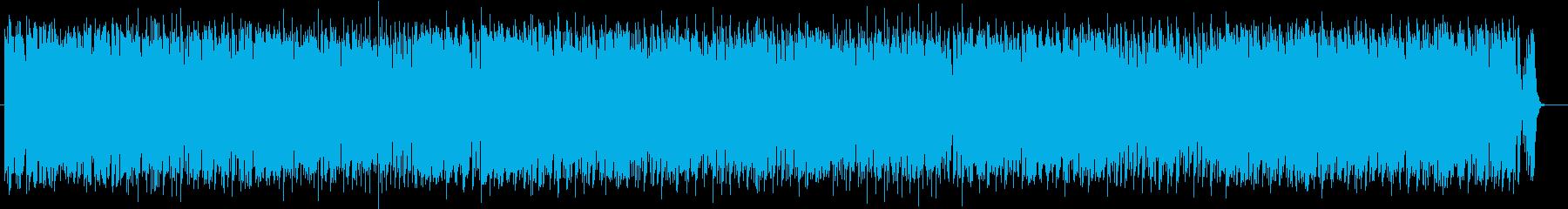 エネルギッシュで爽快なロックの再生済みの波形