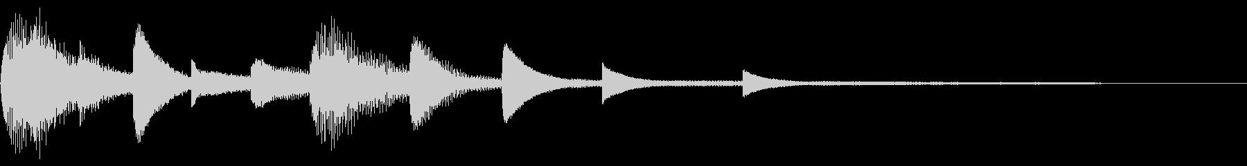 ピアノのジングルですの未再生の波形