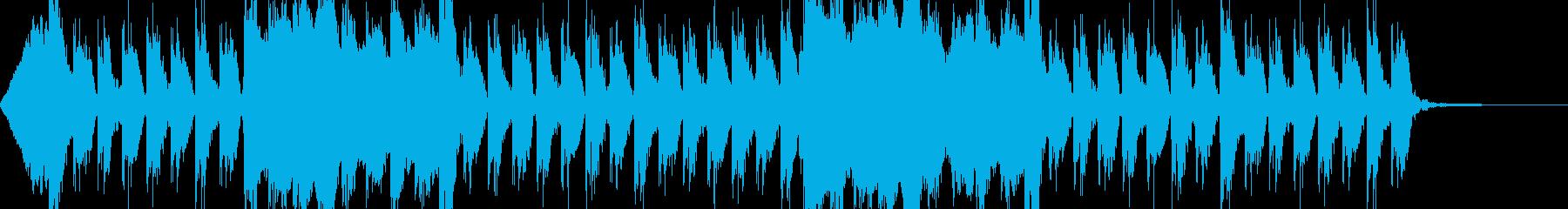 オーケストラとコーラスの戦闘シーンの曲の再生済みの波形