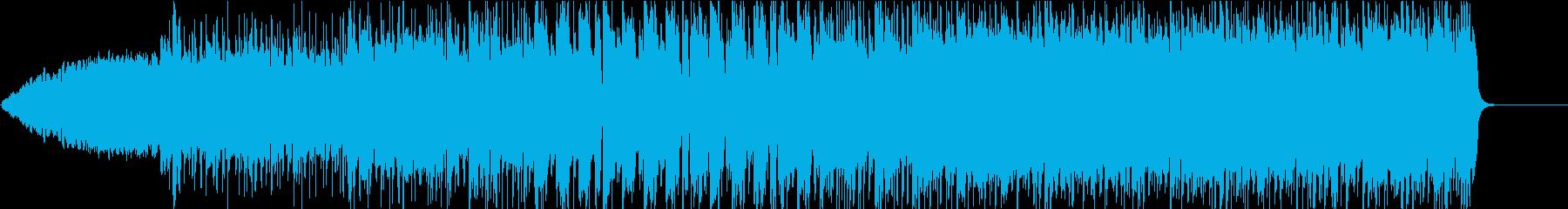 緊迫感のある重く激しいロックの再生済みの波形