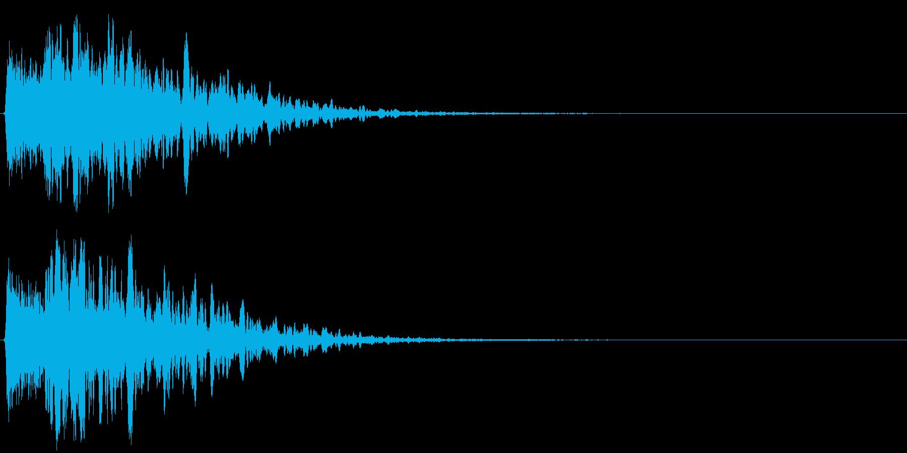 RPG系魔法発動予兆イメージ音の再生済みの波形