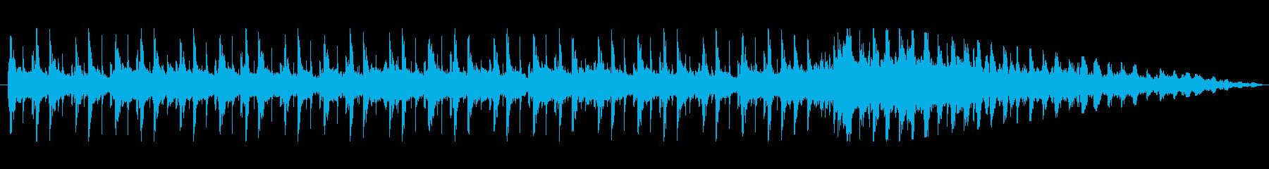 ピアノと切ない曲調が印象的なジングルの再生済みの波形