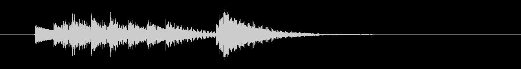 ポンパパパン・・(明るく楽しい鉄琴音)の未再生の波形