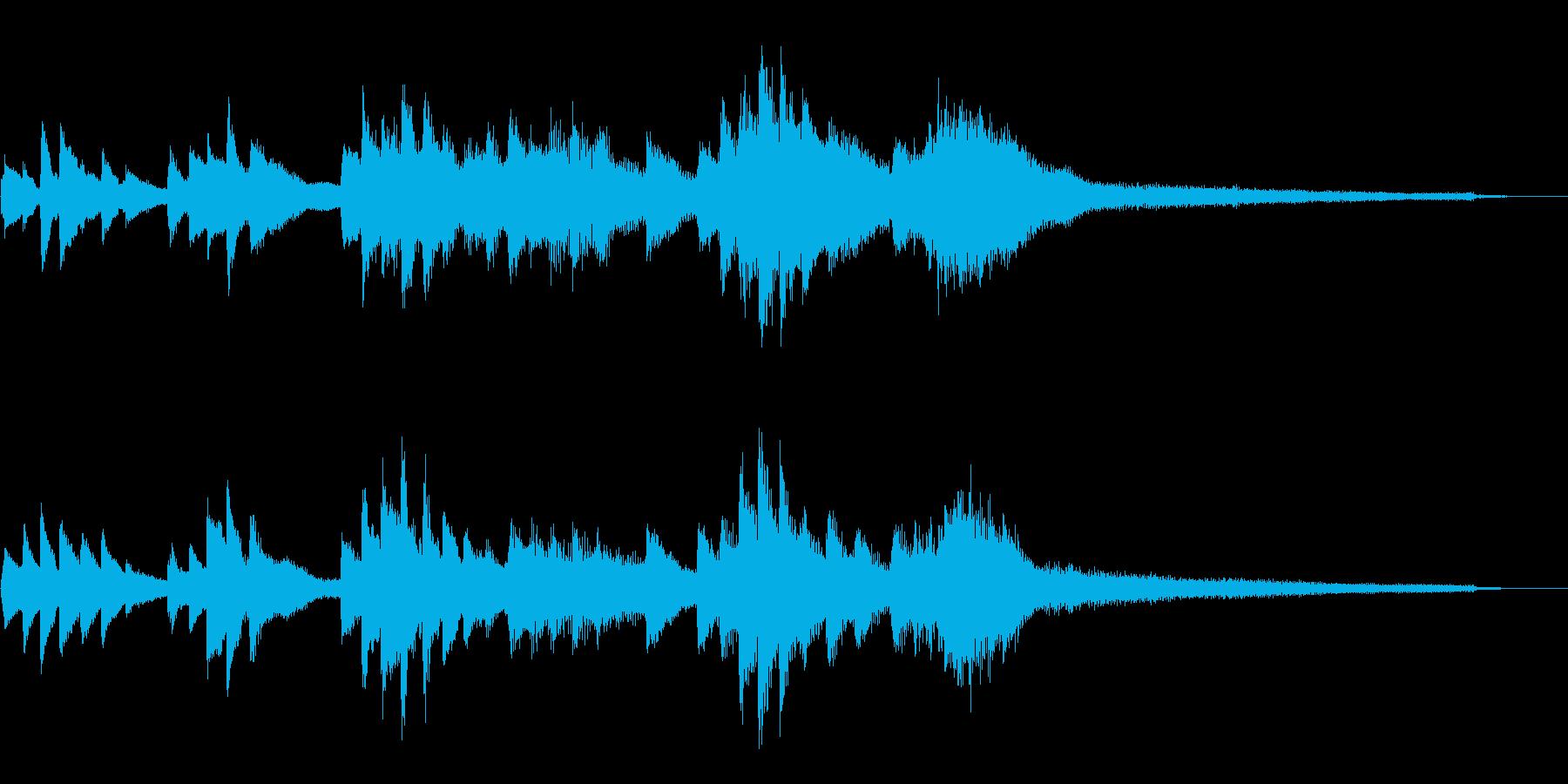 和風のジングル5-ピアノソロの再生済みの波形