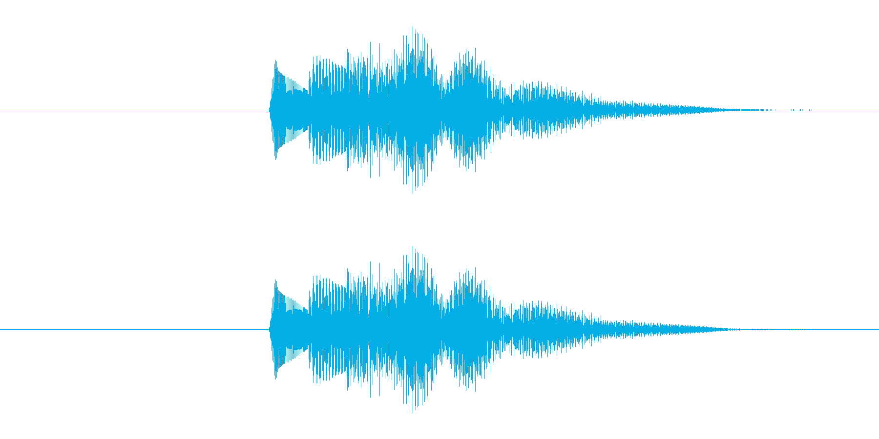 緊張感のある響きのシステム効果音です。…の再生済みの波形