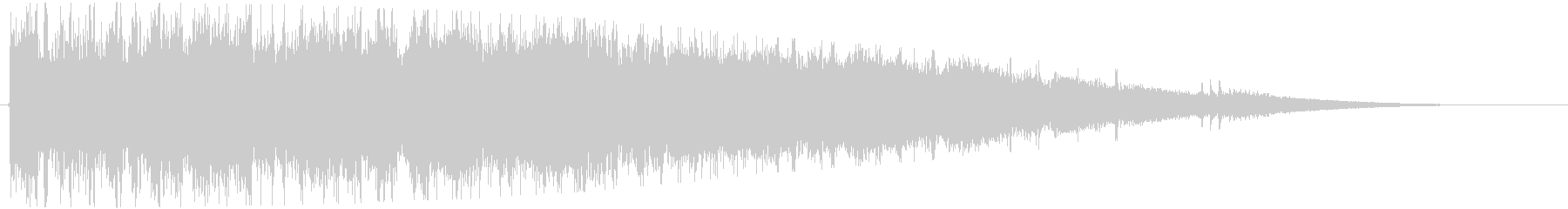 キラキラ きれいな音の未再生の波形