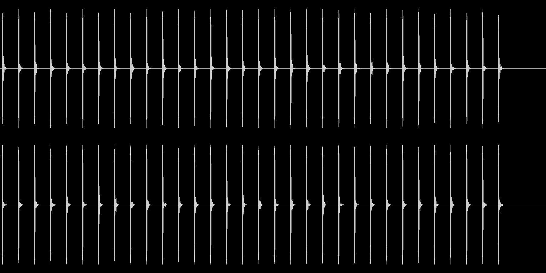 心電図の音-3-1(BPM40)の未再生の波形