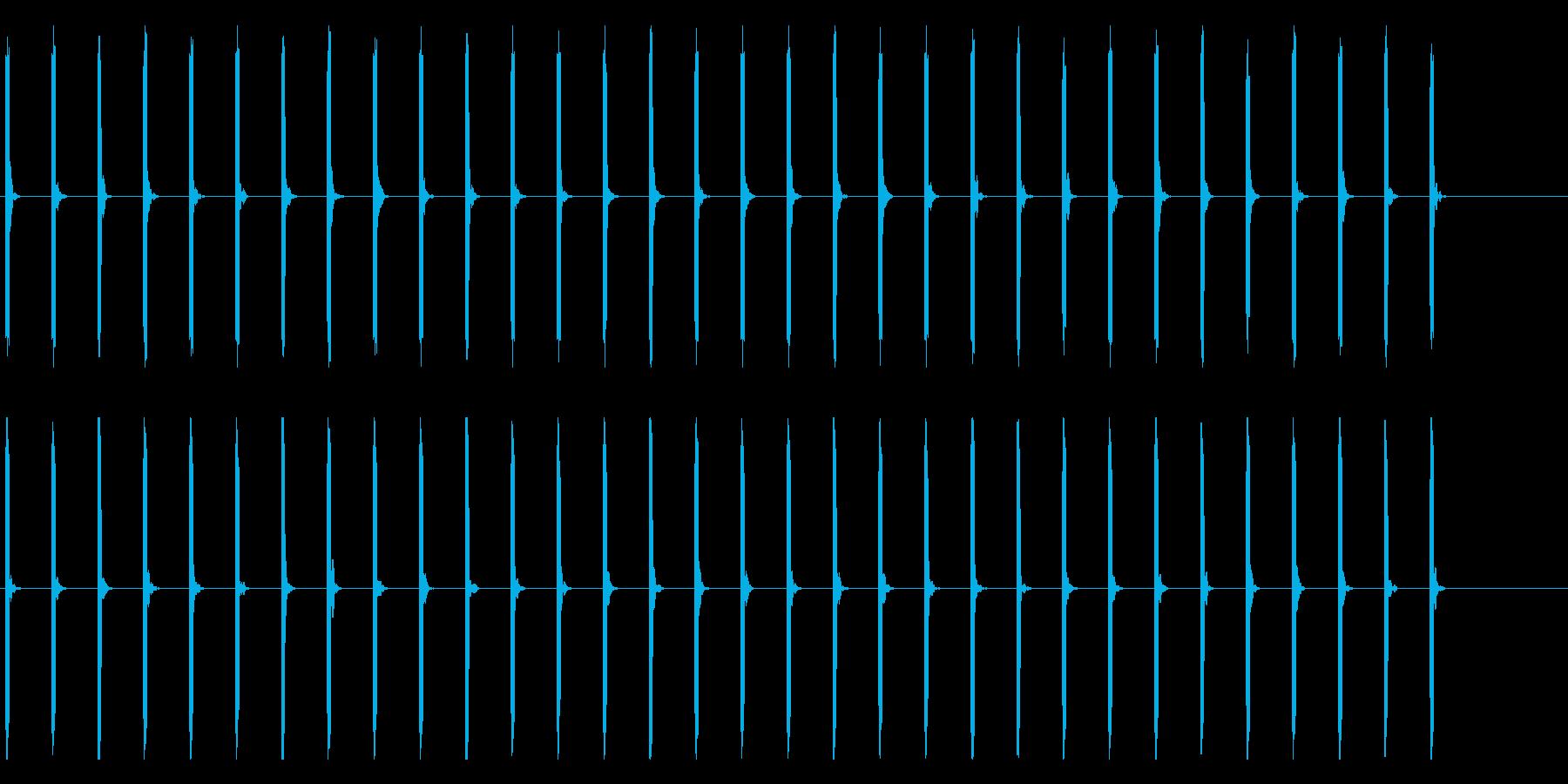 心電図の音-3-1(BPM40)の再生済みの波形