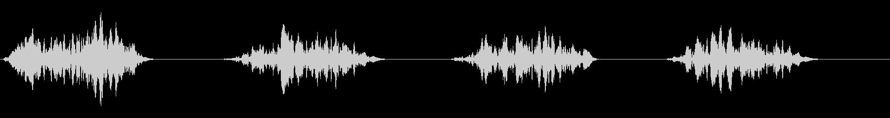 フォンフォンという引きずり音の未再生の波形