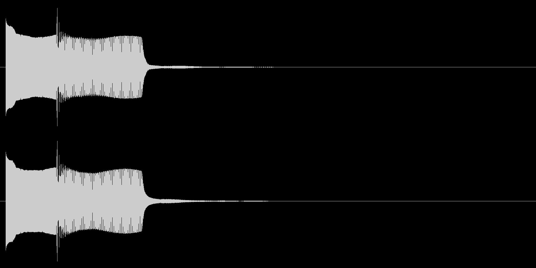 電子音系 キャンセル音3(小)の未再生の波形