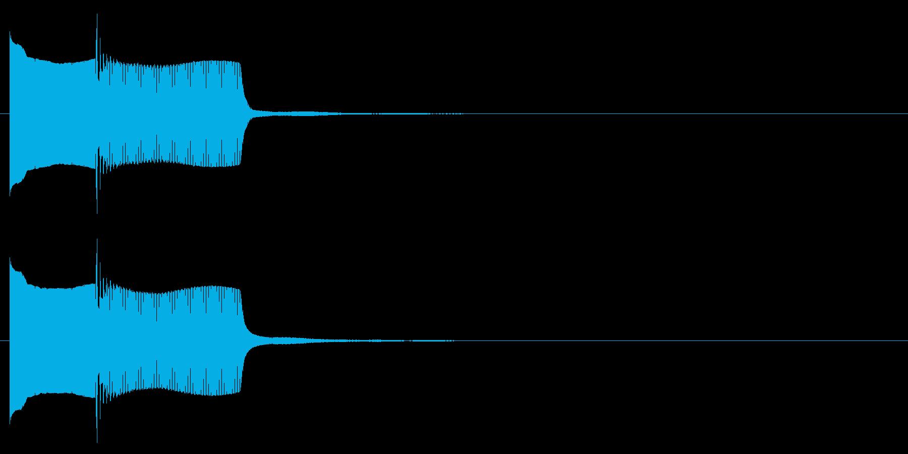 電子音系 キャンセル音3(小)の再生済みの波形