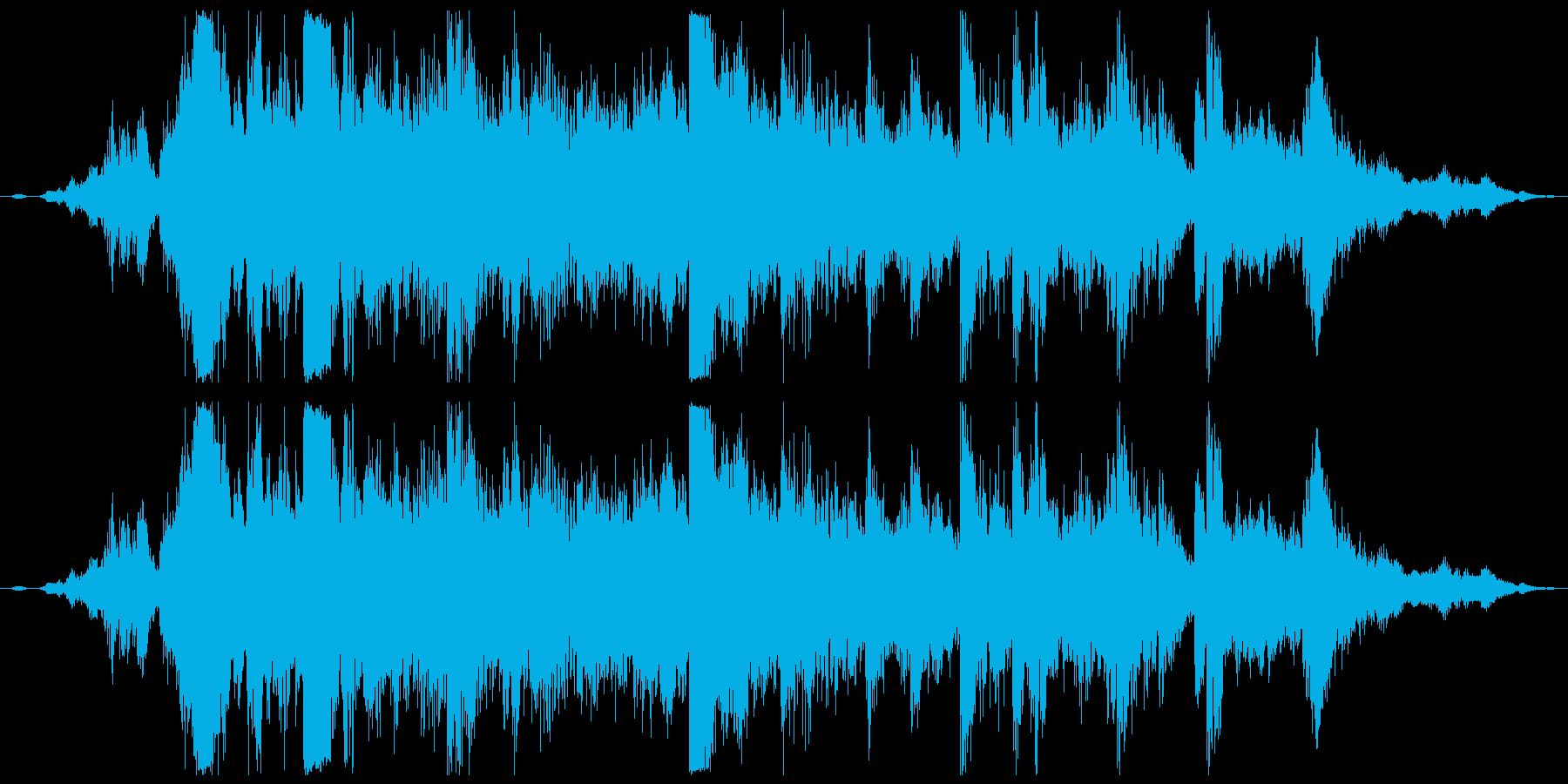 本坪鈴。神社、寺の大鈴。ガランカラカラ…の再生済みの波形