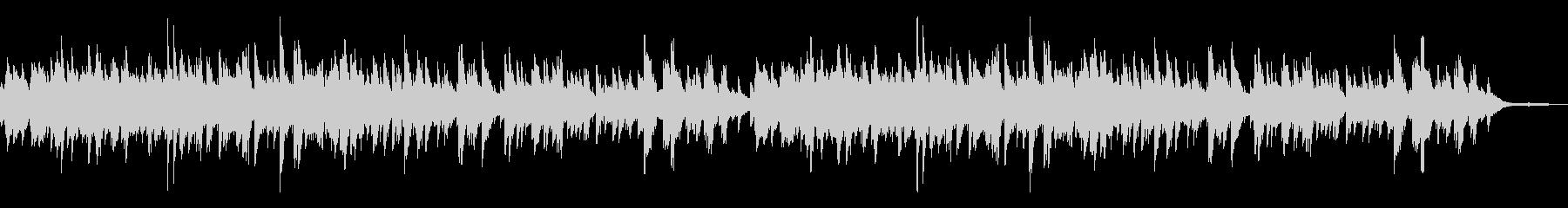 優しい温かな曲調 3拍子のピアノソロの未再生の波形