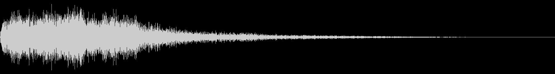 勇ましい場面転換音 CMイン シーン切替の未再生の波形